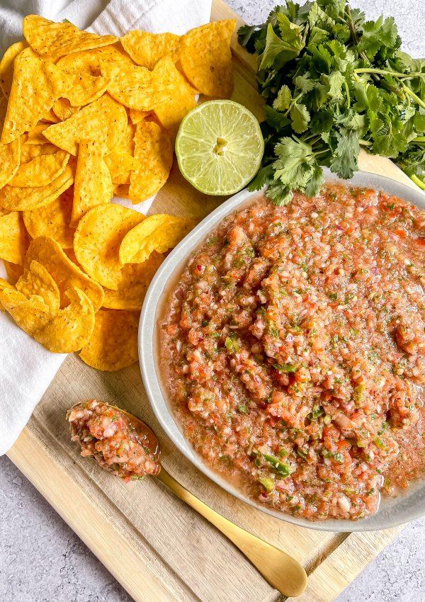 Grab Some Tortilla Chips And Guacamole… Make My Cantina-Style Salsa!