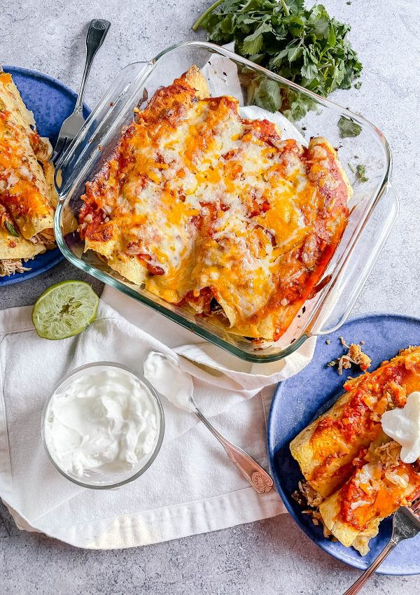 Chicken and Black Bean Enchiladas – Great for Meal Prep