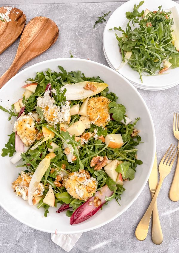 Transport Yourself to a Parisian Bistro Now with this Warm Goat Cheese Salad