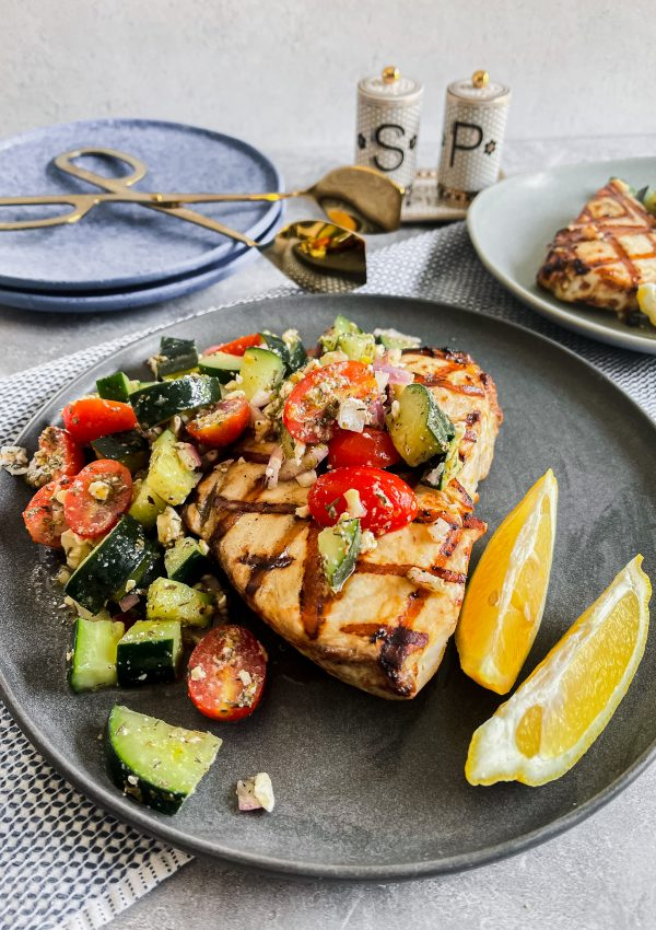 The Most Delicious Caesar-Style Grilled Swordfish You'll Ever Have!