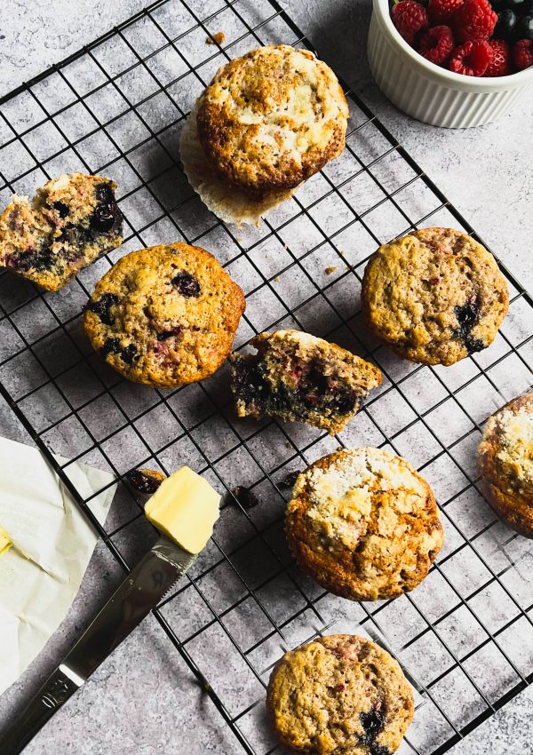 The Best Muffins You'll Ever Make – Orange Triple-Berry Muffins with Streusel
