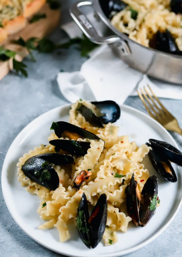 My Easy Italian Pasta With Mussels And Garlic White Wine Sauce